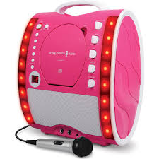 singing machine portable plug and play cd g karaoke system with