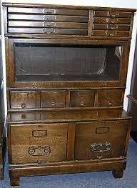 Antique Oak File Cabinet Antique Oak Shaw Walker Globe Erbe 3 Drawer File Cabinet Removable