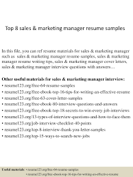 Objective Marketing Resume Resume Samples Sales And Marketing Resume For Your Job Application