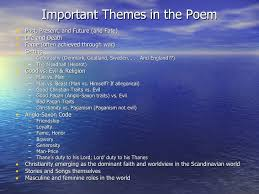 themes of beowulf poem beowulf intro pp 1