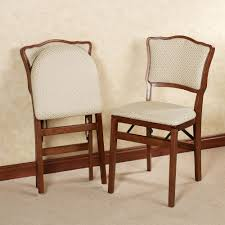 Folding Dining Chairs Padded Dover Upholstered Folding Chair Pair