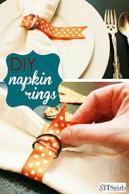 diy thanksgiving napkin rings the sits