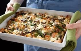 egg strata casserole portobello and asparagus egg strata whole foods market