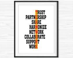 design bureau inspiring dialogue on office wall etsy