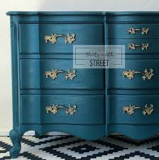 Bedroom Furniture Dresser Painted Peacock Blue Dresser Makeover Thirty Eighth