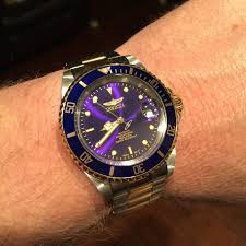 invicta 8928ob bezel dial color mismatch is this normal