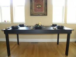 custom modern farmhouse dining table painted with black color with