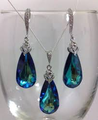swarovski necklace blue stone images Best 25 peacock wedding jewelry ideas peacock jpg