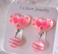 clip on earrings for kids customized plastic children earrings no invisible clip