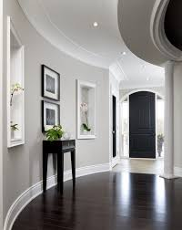 Ceiling Light Crown Molding by Crown Molding On Brick Wall Hall Transitional With Curved Walls