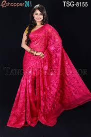 bangladeshi jamdani saree collection tangail moslin silk jamdani saree tsg 8155 online shopping in