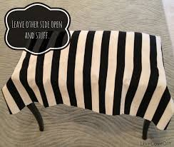 How To Repurpose Piano Benches by Livelovediy Diy Striped Upholstered Bench