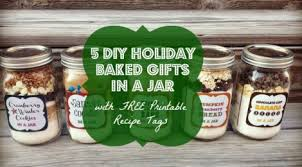 diy baked gifts in a jar with free printable recipe tags