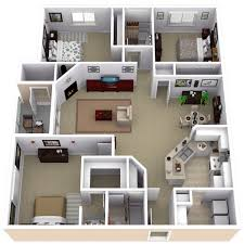 Home Design For 3 Room Flat 3 Bed Apartments Design Shoise Com
