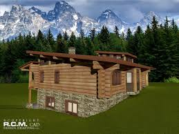 Log Home Styles Cascade Log Home Styles Rcm Cad Design Drafting Ltd