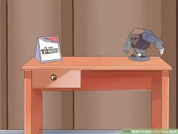 Your Desk 5 Ways To Decorate Your Desk Wikihow