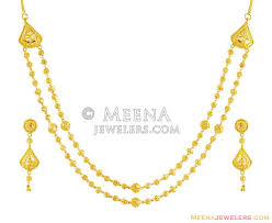 small gold necklace sets images 22k exclusive small layered set stgo15807 22k gold exclusive jpg