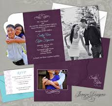 folding wedding invitations custom tri fold wedding invitation jeneze designs
