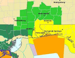 alabama zone map coastal alabama storms to continue into afternoon flash flood