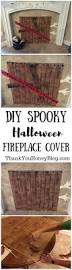 spooky halloween fireplace cover