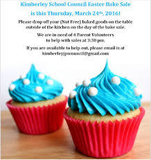 easter bake sale thursday march 24th kimberley council