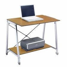 Rolling Laptop Desk by Promotion Laptop Desk Font B Computer Table Stand Black Glass