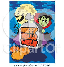 royalty free rf clipart illustration of a vampire looking around