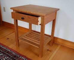 vermont handmade mission end table in cherry walnut or mahogany