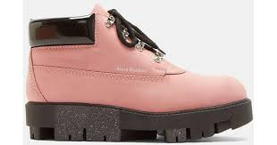ugg womens amely shoes black acne tinne ankle boots in pink in pink lyst
