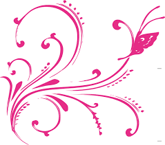 pink swirl butterfly clip at clker com vector clip