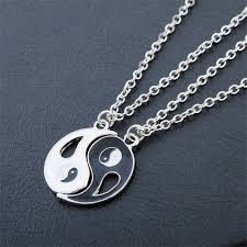 aliexpress heart necklace images 2p ying yang bagua pendant necklace black white couple sister jpg