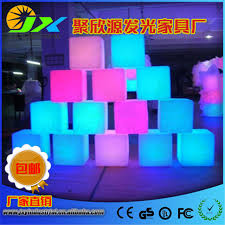 led cubes jxy led cube chair 40cm lounge colored pe rgb led cubes grow cube
