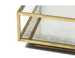Brass Coffee Table Amelie Rectangular Brass And Mirror Coffee Table Mecox Gardens