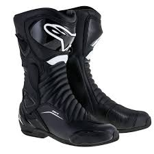 mens motorcycle riding boots alpinestars smx 6 v2 drystar mens leather boots black red 41 eur
