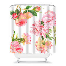 Shabby Chic Floral Curtains by Shabby Chic Shower Curtainrose Shower By Ozscapehomedecor On Etsy