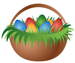 painted easter basket with easter eggs png picture clip art library