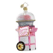 candy ornaments radko ornaments 2014 radko fairground favorite cotton candy ornament