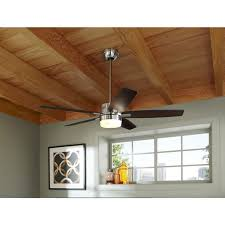 Hunter Ceiling Fan With Light Kit by Shop Hunter Windemere 54 In Brushed Nickel Downrod Mount Ceiling