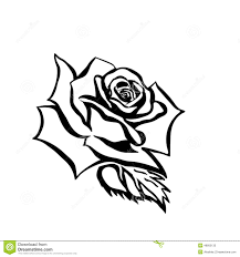 rose sketch stock vector image of rose drawing black 34224386