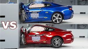 whats better a camaro or challenger crash test 2016 ford mustang vs 2016 chevrolet camaro