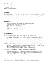 Resume For Football Coach Astonishing Coaching Resume 17 About Remodel Resume Download With
