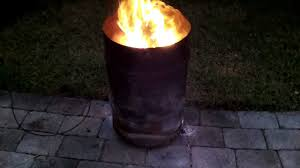 Chiminea Fire Pit 30 Gallon Fire Barrel Pit Better Than Chiminea Youtube