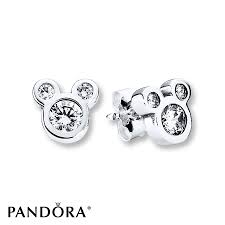 mickey mouse earrings jared pandora earrings disney dazzling mickey sterling silver