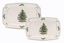 spode tree rectangular platters set of 2