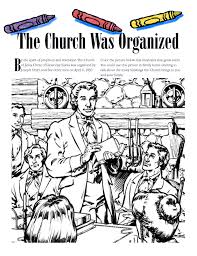coloring page angel visits joseph doctrine and covenants church history annie s place