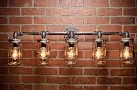 Bar Light Fixture Farmhouse Lighting Lighting Jar Light Steunk