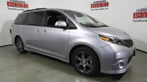 new 2017 toyota sienna se mini van passenger in escondido