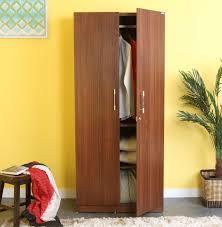 Wooden Wardrobe Price In Bangalore Spacewood Optima Engineered Wood 2 Door Wardrobe Price In India