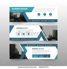 layout banner template blue triangle abstract corporate business banner stock vector