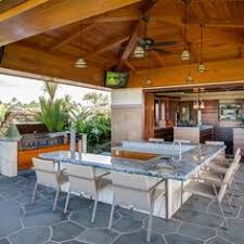 Tropical Kitchen Design Kitchen Outdoor Kitchen Designs With Roofs Pool Cabana Backyard